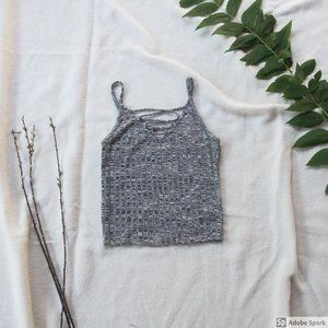 American Eagle Outfitter Heather Grey Crop Tank